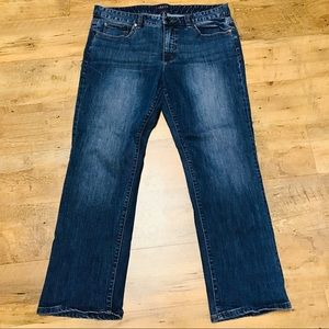 Chaps Denim Womens Jeans Straight Leg  12 Dark W